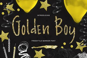 Golden Boy - marker font