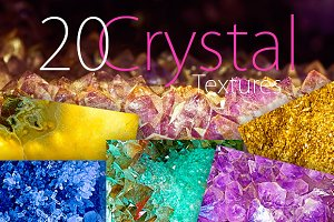 20 Crystal Textures Pack