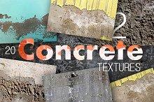 20 Concrete Textures Pack 2