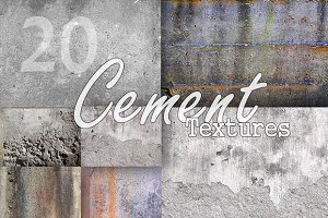 20 Cement Textures Pack