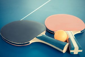 Tabletennis or ping pong rackets