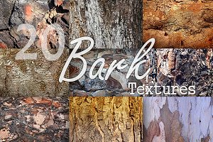 20 Bark Textures Pack