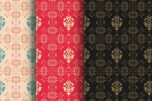 damask wallpaper color