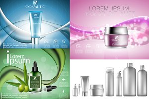 Cosmetics bottles vector EPS 10