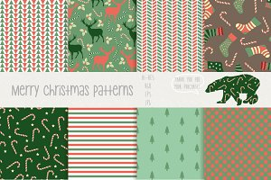 Merry christmas patterns