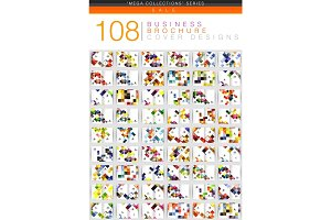 Mega set of square geometrical business brochure templates