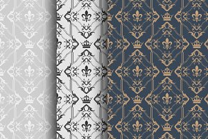 Damask Wallpaper Vector Art