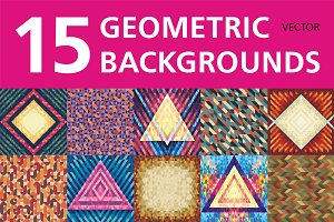 15 Geometric Backgrounds