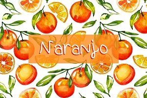 Naranjo watercolor pattern