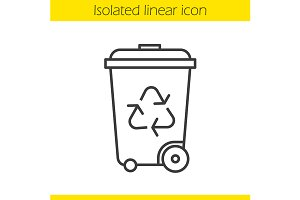 Recycle bin icon. Vector