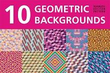 10 Geometric Backgrounds