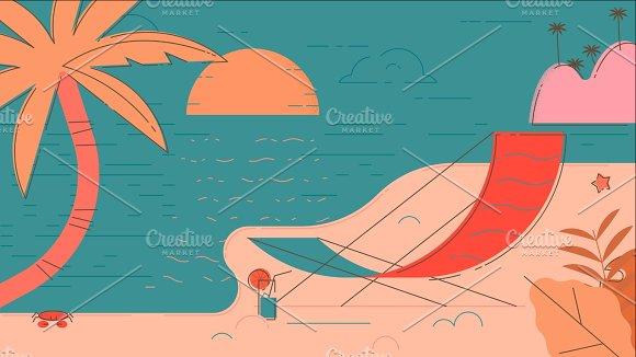 Beach Summer Illustration in Illustrations