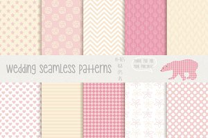 Wedding Seamless Patterns