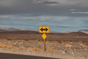 Road sign on the roadside