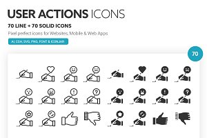 User Actions Icons