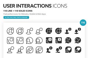 User Interactions Icons