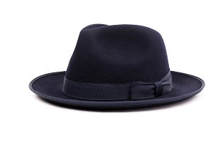 Fedora hat in a dark blue color