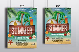 Summer Party Flyer Template-V518