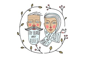Bearded Man and No Beard Woman