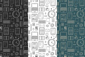 Seamless Pattern Office Supplies
