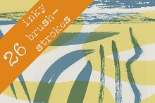 26 Inky Brush Stroke Brushes