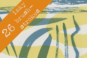 26 Inky Brush Stroke Brushes
