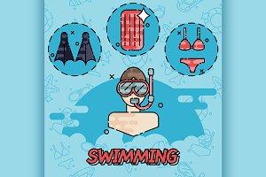 Swimming flat concept