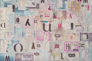 Mixed Fonts Abstract Background