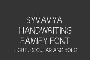 Syvavya Handwriting Family Font