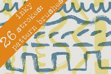 26 Inky Brushstroke Patterns