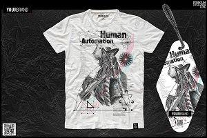 T-Shirt Print / Skull/Human Anatomy