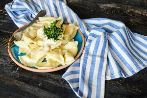 Traditional ukrainian dish - varenik