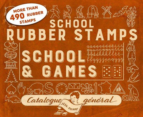 RUBBER STAMPS SCHOOL GAMES 4 BONUS