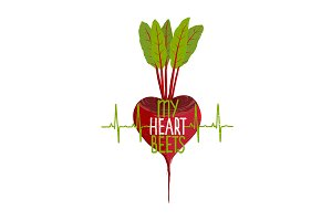 Beetroot Heart Vegetable Dieting
