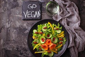 Vegan vegetable salad