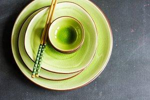 Rustic ceramic plates