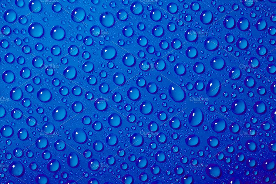 water drops on the blue background nature photos creative market