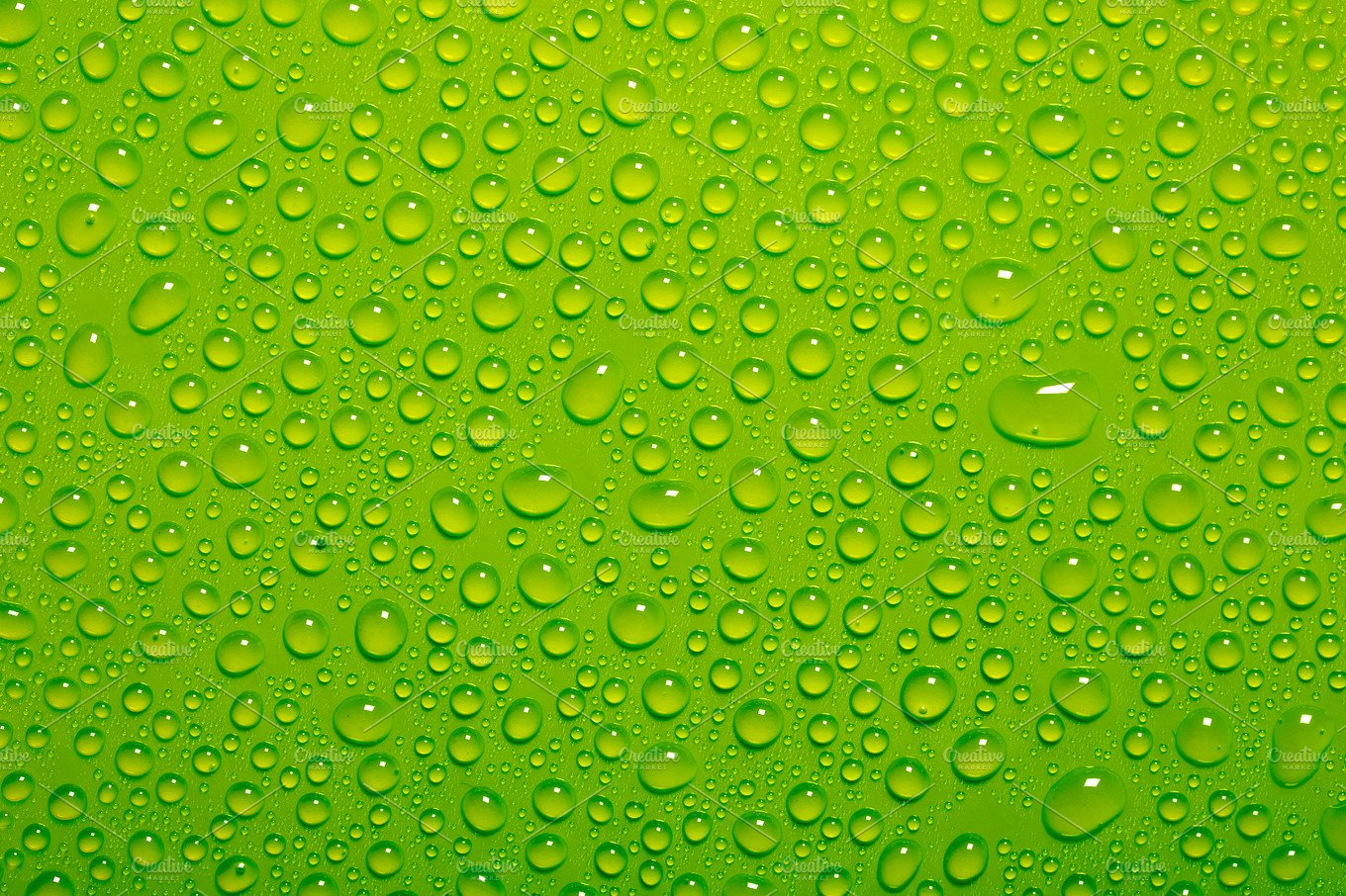 water drops on green background ~ Nature Photos ~ Creative ...