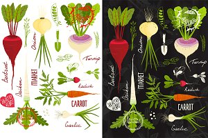 Vegetables with Leafy Tops