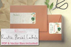 Rustic Floral Wrap Address Label