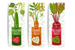 Vegetables Juices Design Collection