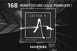 168 LETTER A SIGNATURE monogram logo
