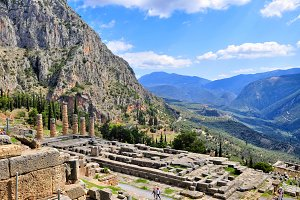 Delphi ruins in greece