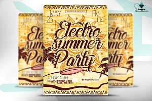 Electro House Summer Party Flyer