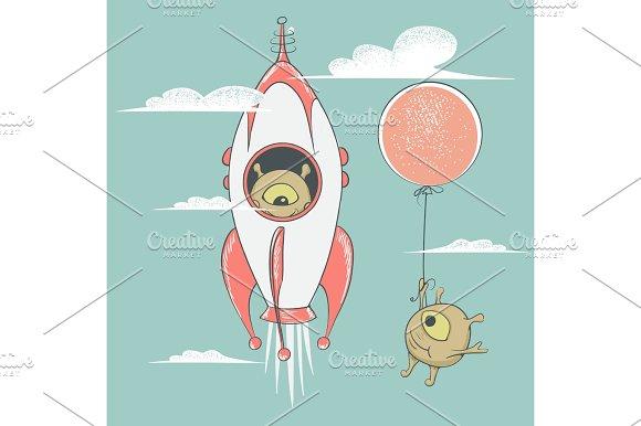 Aliens Travel To Sky