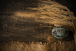 Easter egg and wheatspike