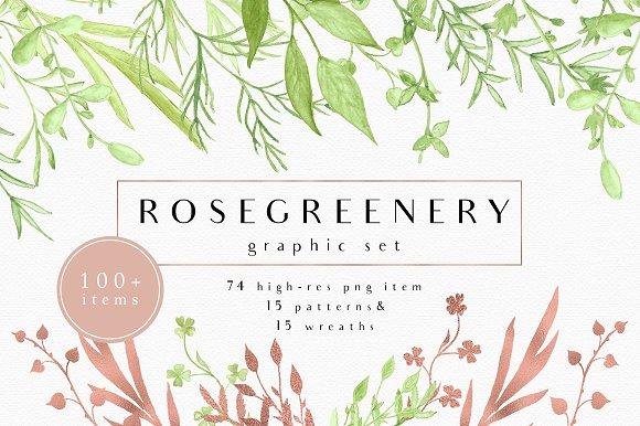 RoseGreenery Graphic Set