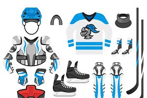 Hockey equipment (two colors)