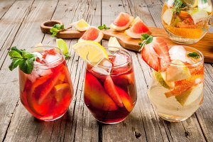 Summer sangria - red, pink and white