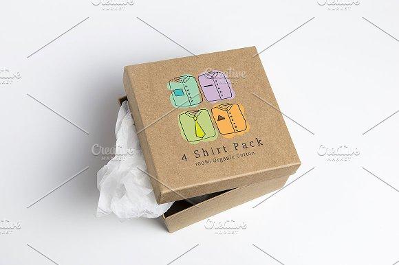 clothes box design templates creative market